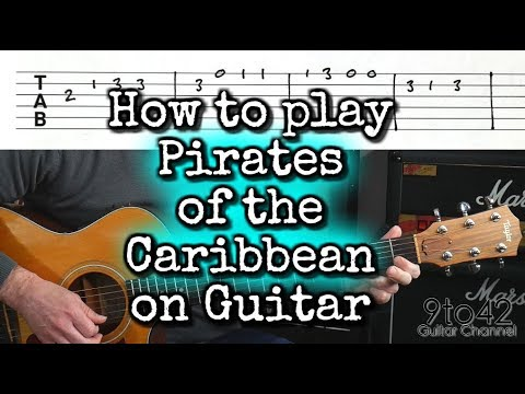 How to Play Pirates of the Caribbean Easy to Follow Guitar Lesson