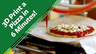 A New Startup 3D Prints Pizza In 6 Minutes!