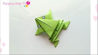 How to make Origami jumping Frog / paper frog
