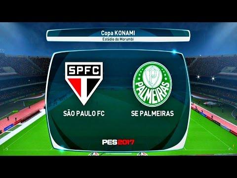 SÃO PAULO X PALMEIRAS ( 1080p / 60FPS ) ESTÁDIO DO MORUMBI - PES 17