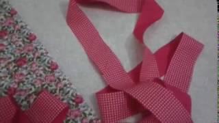 Como fazer um porta absorvente com viés cortado de tecido