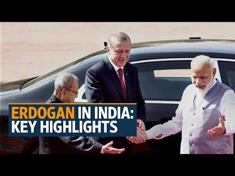 Turkish President Recep Tayyip Erdogan in India