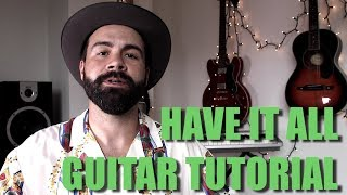Jason Mraz - Have It All - Easy Guitar Tutorial for beginners