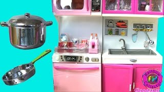 Doll Playset: My Modern Kitchen 32 Full Deluxe Kit with Lights and Sounds
