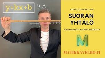 Onko tässä matematiikan yo-kokeiden helpoimmat pisteet? | SUORAN YHTÄLÖ