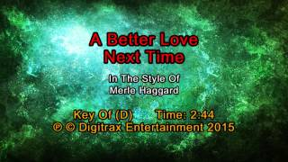 Merle Haggard - A Better Love Next Time (Backing Track)