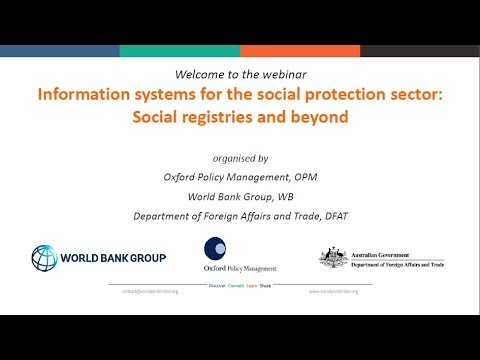 Information systems for the social protection sector  social registries and beyond