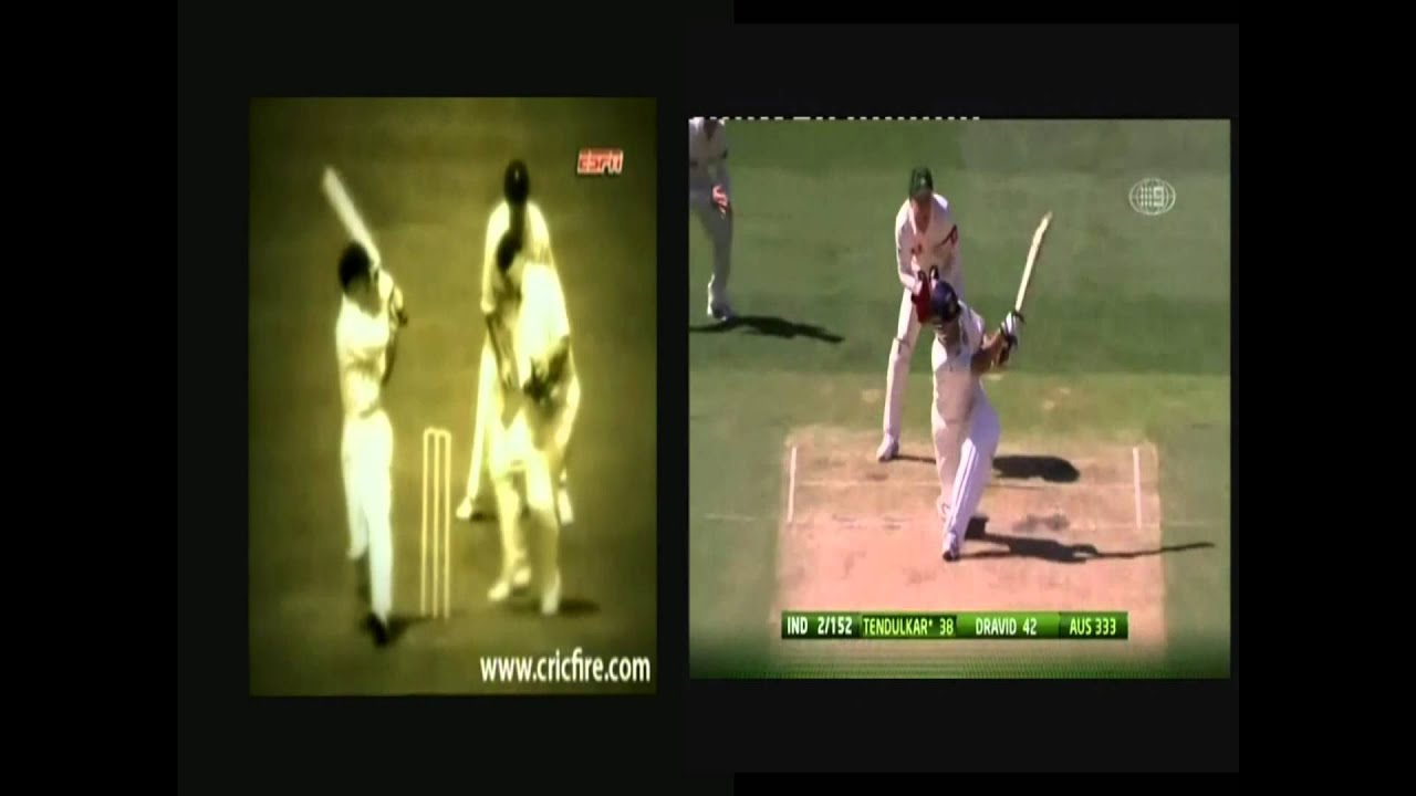 Don Bradman Sachin Tendulkar batting side by side