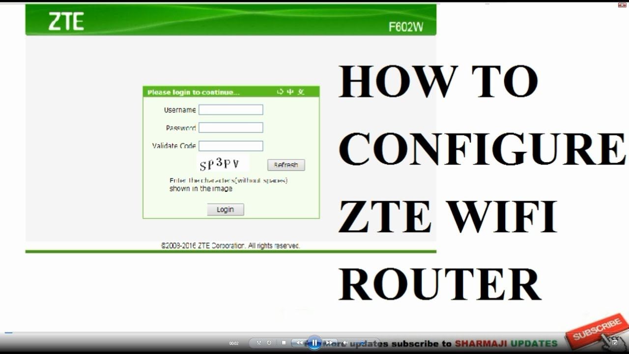 how to configure zte router - Sharmaji Updates