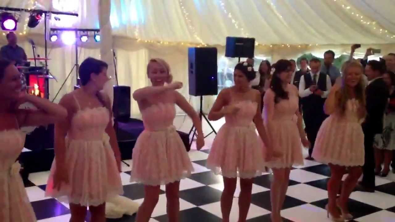 Seems me, Bride and bridesmaid flashing