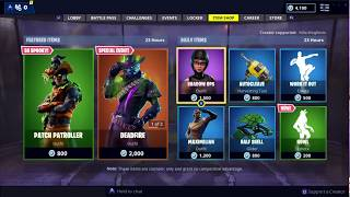 NEW PATCH PATROLLER SKIN AND NEW HOWL EMOTE IN FORTNITE ITEM SHOP