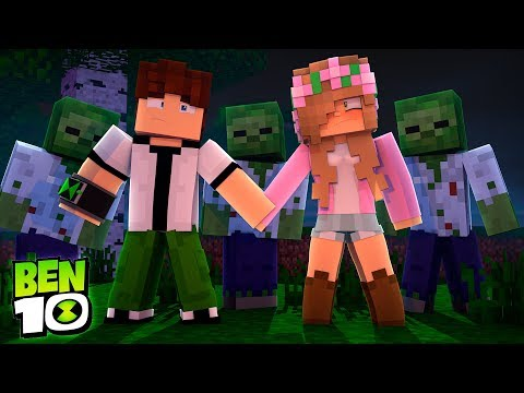 BEN10 AND LITTLE KELLY ARE SURROUNDED BY ZOMBIES | Minecraft Little Kelly
