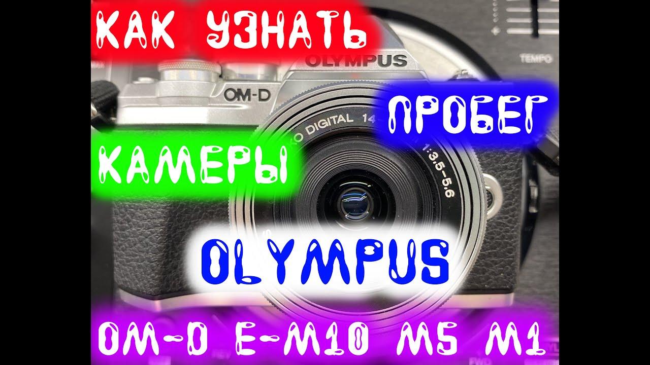 Как узнать пробег камеры Olympus OM-D E-M10 M5 M1 // Пошаговая Инструкция
