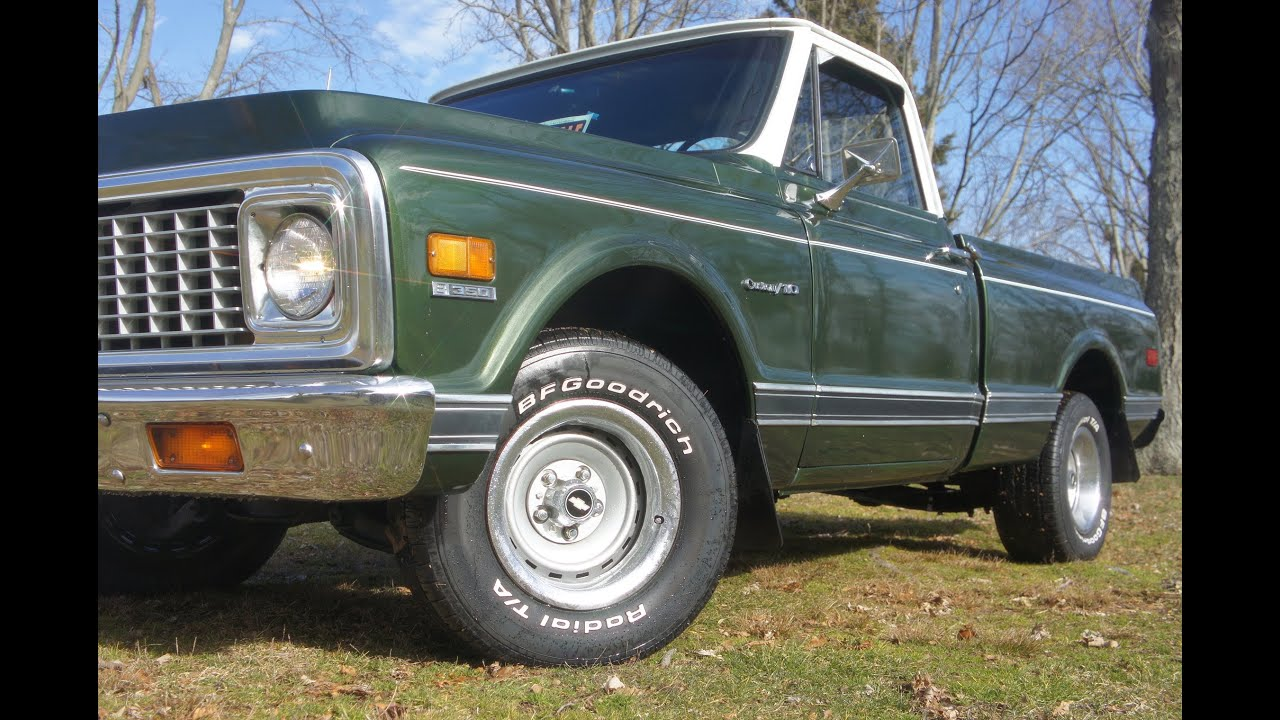 1972 chevrolet custom deluxe c 10 c10 c 10 c 10 pickup truck chevy 1 2 - 1972 Chevrolet C10 Custom 10 Pick Up For Sale 350 3 Speed On The Tree Short Bed Youtube