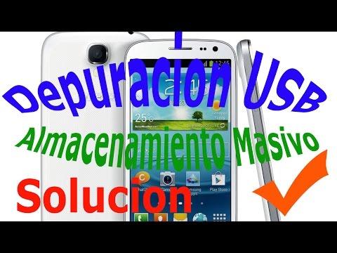 Solucion Problema Depuracion USB  Almacenamiento Masivo Android Problemas de Software y Hardware