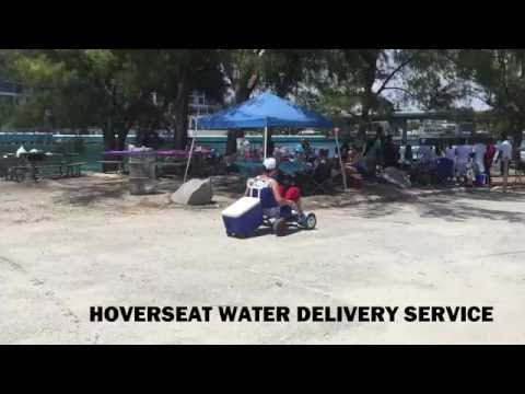 HoverSeat Water Delivery Service.