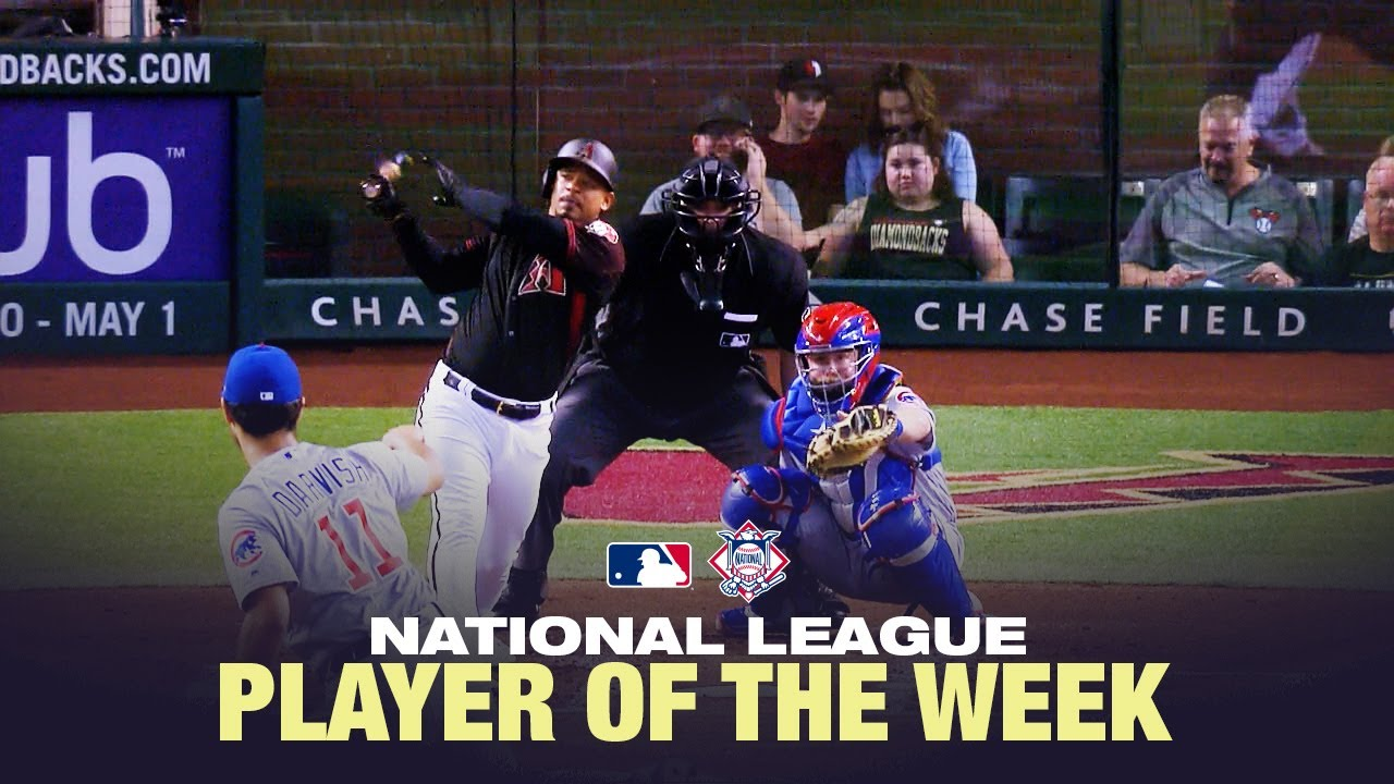 Eduardo Escobar is the National League Player of the week