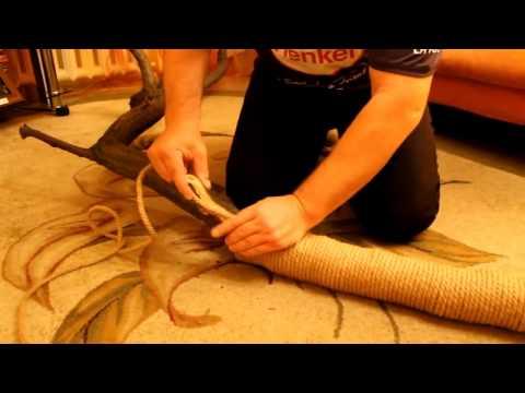 Как сделать когтеточку своими руками
