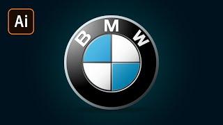 Как сделать логотип BMW в Adobe Illustrator