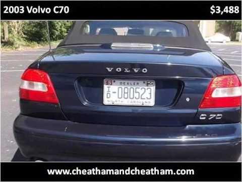 Used Cars Sanford Nc >> 2003 Volvo C70 Used Cars Sanford Nc