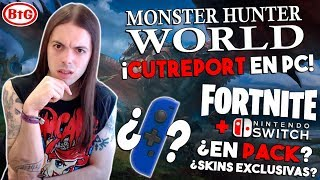 MONSTER HUNTER WORLD en PC 'CUTREPORT! PACK SWITCH - FORTNITE - SKINS JOYCON con CRUCETA - FAIL!