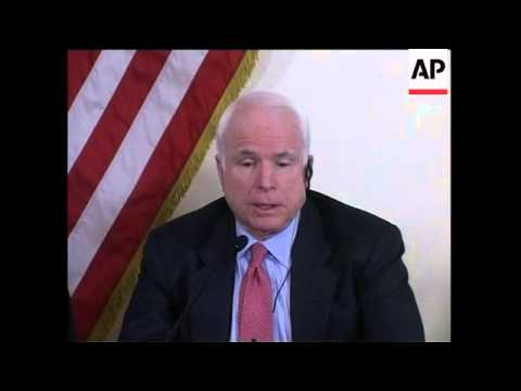 McCain on Blackwater ruling. meets PM and president