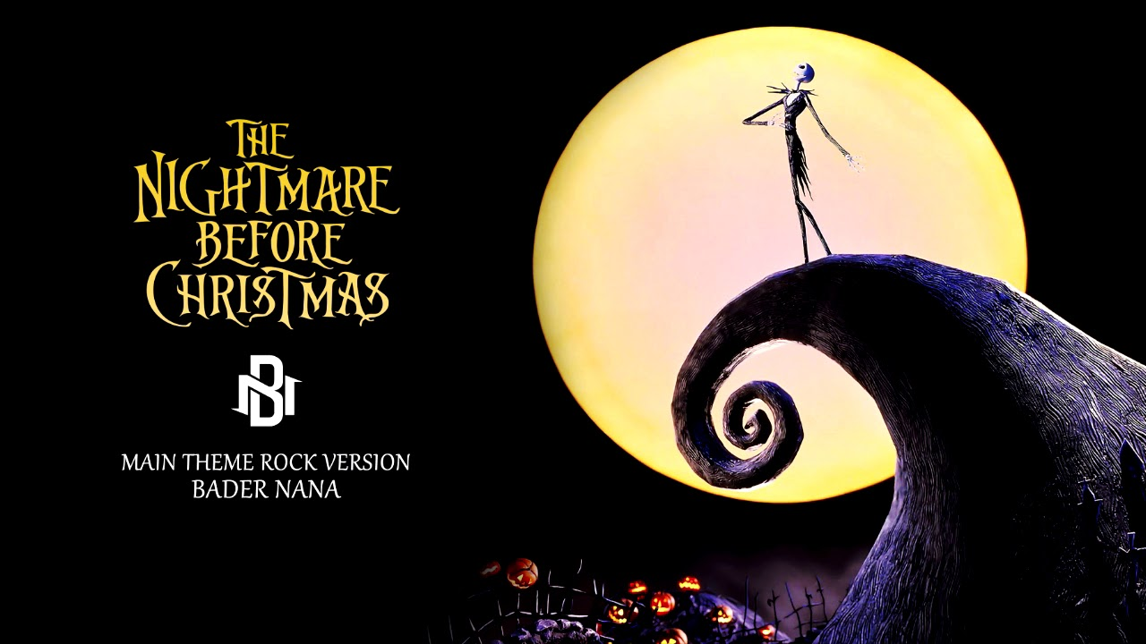 The Nightmare Before Christmas Main Theme Rock Version - YouTube