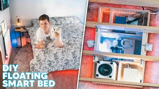 I Built an INSANE Tech-Filled Floating BED! (2 Day Build)