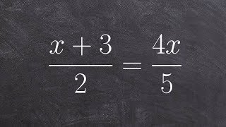 How to apply cr๐ss multiplication to solve a proportion