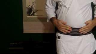 How to tie Iaido obi