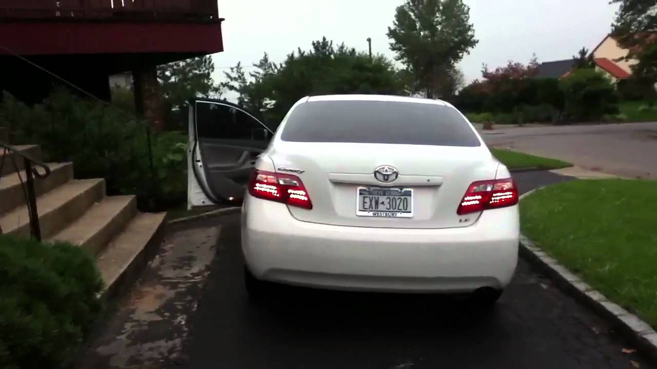 jdm led taillights in 2007 toyota camry youtube. Black Bedroom Furniture Sets. Home Design Ideas