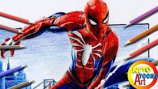Dibujando a SPIDERMAN #Marvel | Speed Drawing Spiderman | PS4 | NITO TOONS #spiderman