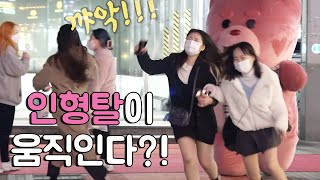 GIANT TEDDY BEAR PRANK @korea