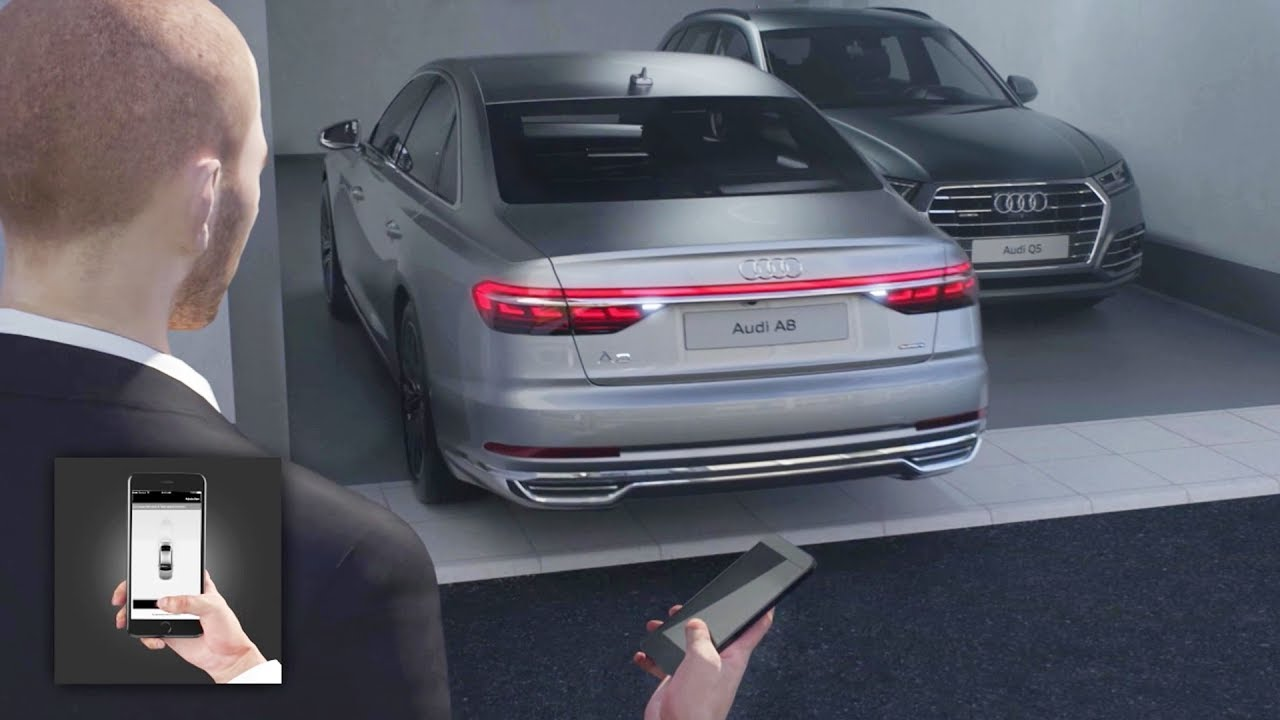2018 audi key. brilliant 2018 2018 audi a8  remote parking pilot and garage on audi key