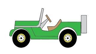 How to Draw a Jeep Car Easy step by step / Как нарисовать машину Джип