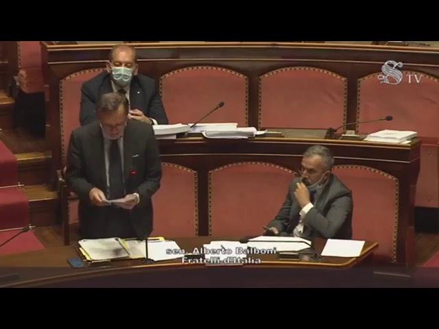 FdI Parlamento - L'intervento del Sen. Balboni sul DL Semplificazioni