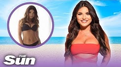 Love Island's India Reynolds as a Sun Page 3 girl in 2014