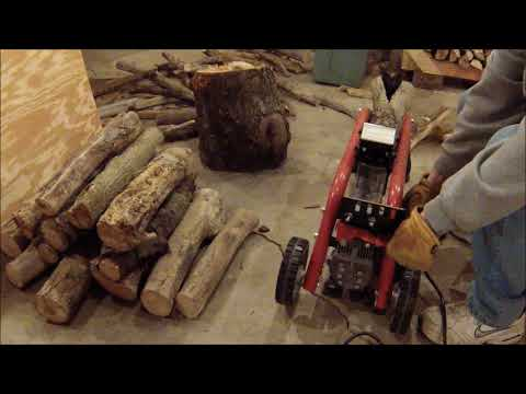 Splitting Wood With My New Homelite 5 Ton Electric Log Splitter From Home Depot