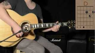 Cro- Einmal um die Welt - Chords/Guitar Lesson / Tutorial