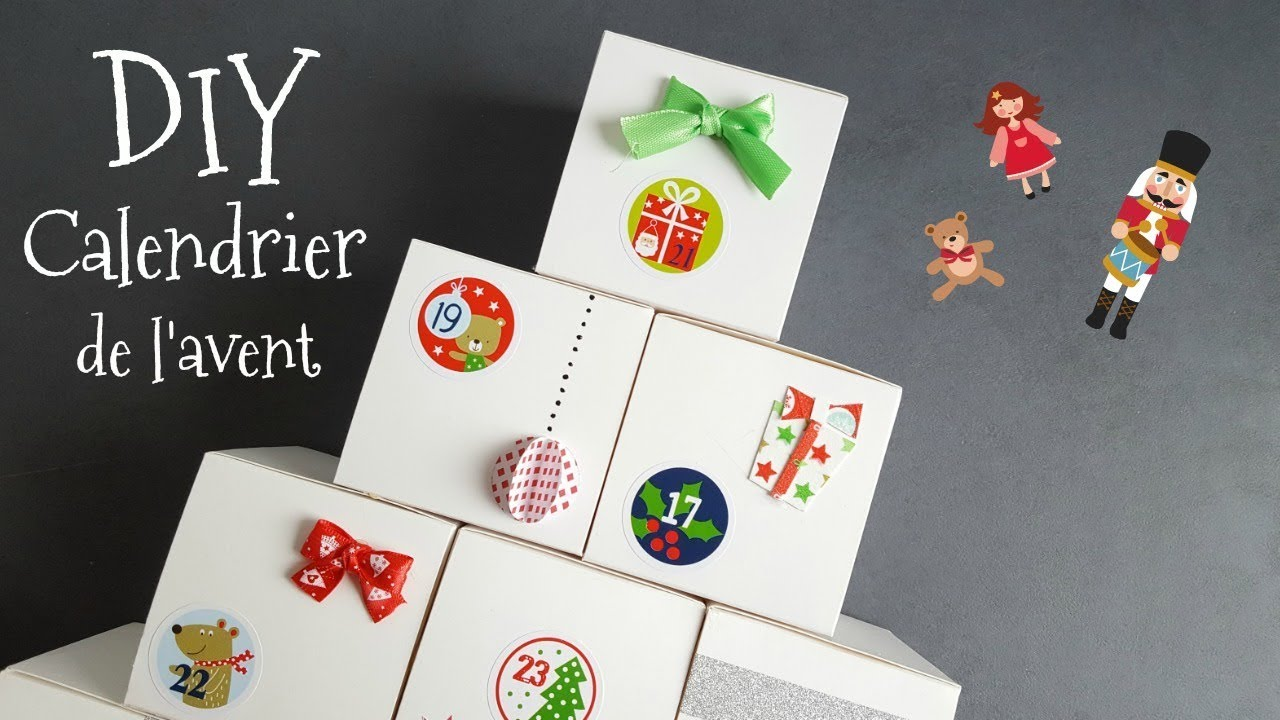diy calendrier de l 39 avent no l 2017 youtube