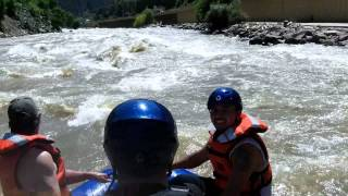 CAPTAIN FALLS OUT RAFTING SHOSHONE RAPIDS