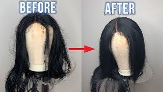How To Straighten a Wig FAST(Hot-comb vs Straightener Comparison) | Annesha Adams