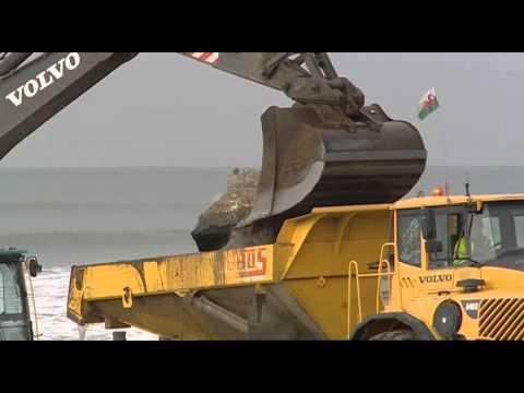 Tywyn coastal defence video