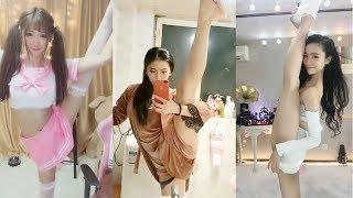 【抖音福利】长腿美女压腿劈叉,各种大长腿秀一字马绝技#福利视频合集