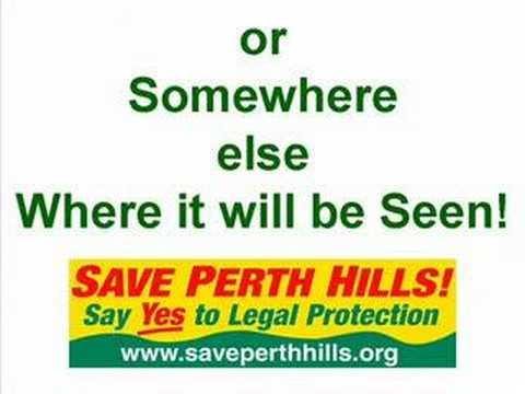 Save Perth Hills - How Can You Help