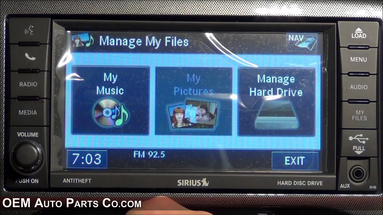 rhb 430n mygig gps navigation radio easy plug play install chrysler dodge jeep ram [ 1280 x 720 Pixel ]