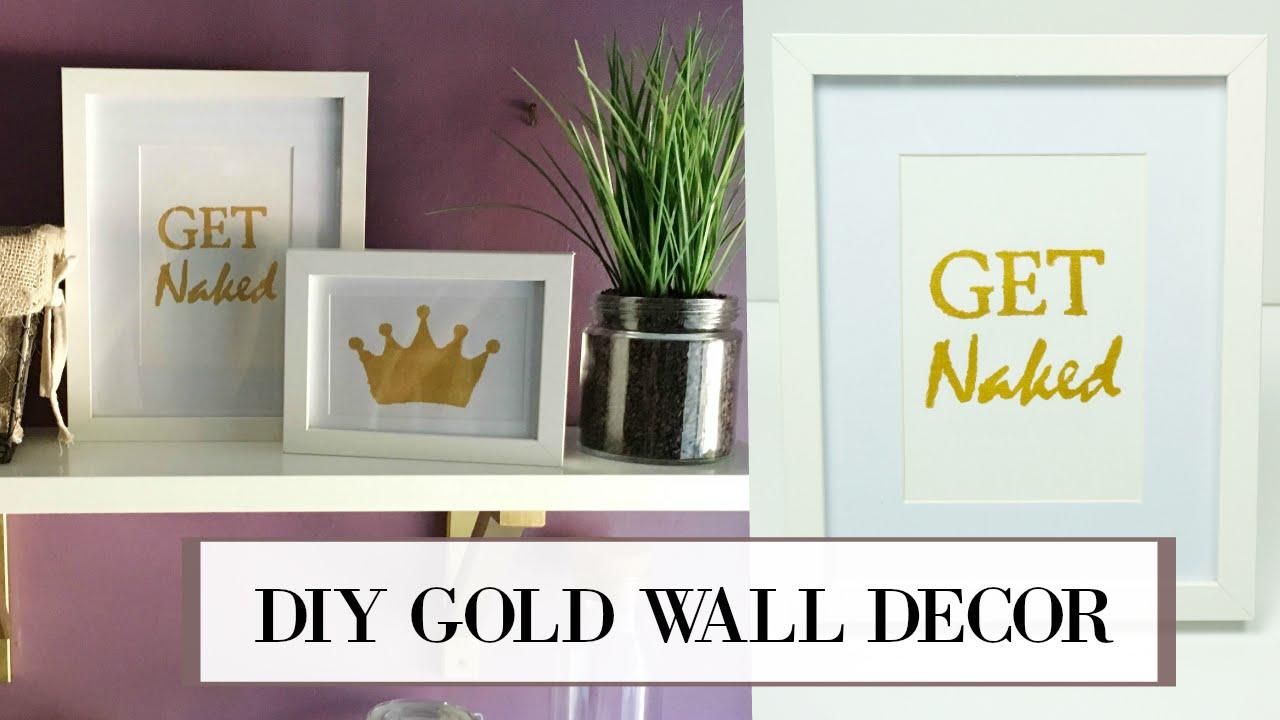 DIY Gold Leaf Wall Art   ALANNA FOXX - YouTube