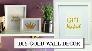 DIY Gold Leaf Wall Art | ALANNA FOXX