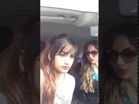 beautiful girls dancing on Arabic song ,Egyptian girls dancing in car