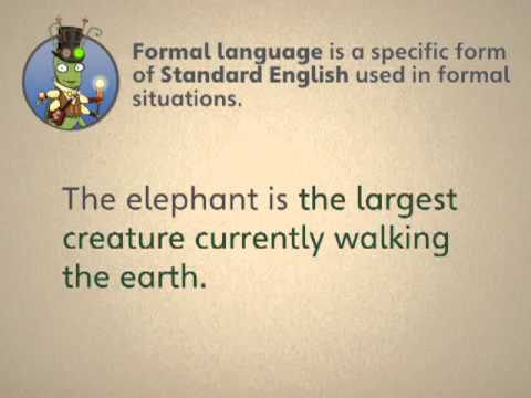 Grammar and Spelling Bug Formal Language Video Tutorial for Years 5-6